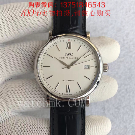 MK厂V4版,IWC万国柏涛菲诺系列 IW356501白面皮带
