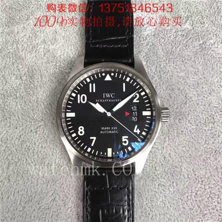 MK厂V6版,万国IWC马克十七飞行员系列 IW326501黑面